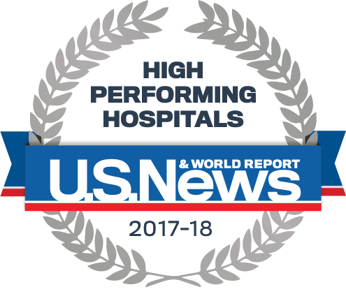 U.S. News & World Report Best Hospitals 2017-18 for Knee Replacement
